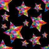 Nahtloser Hintergrund mit Sternen Stockfotografie