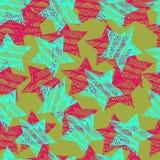 Nahtloser Hintergrund mit Sternen Lizenzfreie Stockfotos