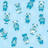 Nahtloser Hintergrund mit Teddybären Stockbilder
