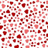 Nahtloser Hintergrund mit verschiedenen farbigen Herzen Lizenzfreies Stockbild