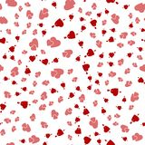 Nahtloser Hintergrund mit verschiedenen farbigen Herzen für Valentinsgrüße Lizenzfreie Stockfotografie