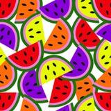 Nahtloser Hintergrund mit Wassermelonenscheiben lizenzfreie abbildung