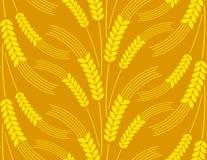 Nahtloser Hintergrund mit Weizen Stockfotografie