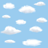 Nahtloser Hintergrund mit Wolken Stockbilder