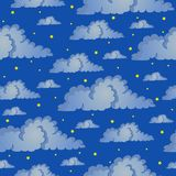 Nahtloser Hintergrund-nächtlicher Himmel Stockfotografie
