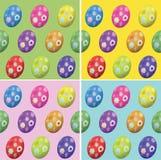 Nahtloser Hintergrund Ostern von farbigen Eiern Lizenzfreie Stockfotografie