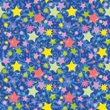 Nahtloser Hintergrund, Sterne Lizenzfreie Stockbilder