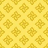 Nahtloser Hintergrund von den gelben Formen lizenzfreie abbildung