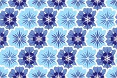 Nahtloser Hintergrund von den violetten Blumen. Leuchte und vektor abbildung