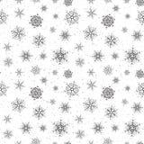 Nahtloser Hintergrund von Schneeflocken Stockfotografie