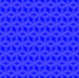 Nahtloser Hintergrundvektor des blauen Würfelmusters lizenzfreie abbildung