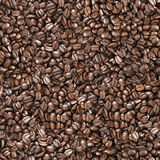 Nahtloser Kaffeebohne-Hintergrund Lizenzfreies Stockfoto