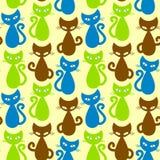 Nahtloser Katzehintergrund Lizenzfreies Stockbild