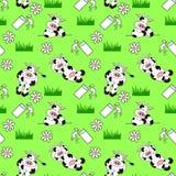 Nahtloser Kuh-Hintergrund Lizenzfreies Stockfoto