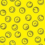 Nahtloser Lächelnhintergrund Stockfotografie