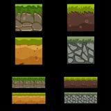 Nahtloser Landschaftsquadrat-Elementsatz Lizenzfreies Stockfoto