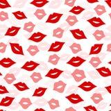 Nahtloser Lippenhintergrund, Illustration Lizenzfreies Stockfoto