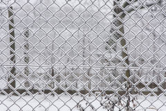 Nahtloser Maschendrahtzaun - Winter Lizenzfreies Stockfoto