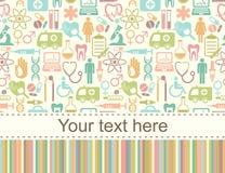 Nahtloser medizinischer Hintergrund mit Platz für Text Stockfotografie