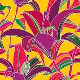 Nahtloser Mehrfarbenhintergrund der Blume. Stockbild
