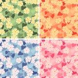 Nahtloser mit Blumenaufbau Stockfotos