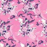 Nahtloser mit Blumenhintergrund Stockfoto