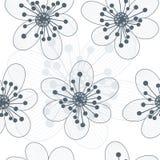 Nahtloser mit Blumenhintergrund Stockfotografie