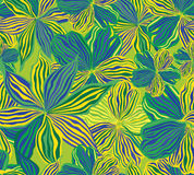 Nahtloser mit Blumenhintergrund, gelbe Blumen. Stockfotografie