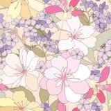 Nahtloser mit Blumenhintergrund. leichtes Blumenmuster. Stockfoto