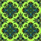Nahtloser mit Ziegeln gedeckter Muster-Vektor Stockbilder