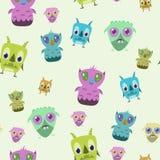 Nahtloser Monster-Hintergrund Lizenzfreies Stockfoto