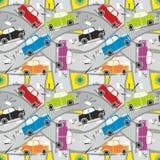 Nahtloser Muster-Autounfall Lizenzfreie Stockbilder