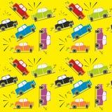 Nahtloser Muster-Autounfall Stockbilder