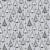 Nahtloser Muster-Beschaffenheits-Hintergrund mit Weihnachtsbaumflecken lizenzfreie abbildung