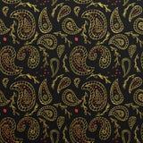 Nahtloser Muster-Tapetenhintergrund Paisleys goldener Stockbilder