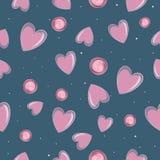Nahtloser Muster Valentinsgruß ` s Tag lizenzfreie abbildung