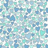 Nahtloser Muster Valentinsgruß ` s Tag stock abbildung