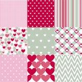 Nahtloser Muster Valentinsgruß-Tag Lizenzfreie Stockfotos