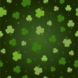 Nahtloser Muster Vektorgrün-Kleehintergrund Stockbilder