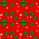 Nahtloser Muster-Weihnachtseiffelturm Lizenzfreies Stockbild
