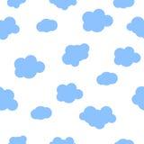 Nahtloser Musterbabyhintergrund mit Wolken Stockfotos