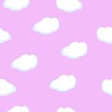 Nahtloser Musterbabyhintergrund mit Wolken Lizenzfreie Stockfotos