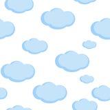 Nahtloser Musterbabyhintergrund mit Wolken Lizenzfreie Stockfotografie