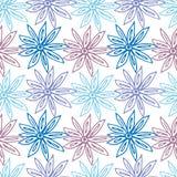 Nahtloser Musterblumenzimt lizenzfreie abbildung