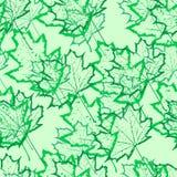 Nahtloser Musterentwurf der Blätter Stockfotografie