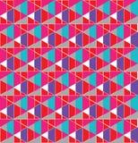Nahtloser Musterentwurf des geometrischen Gitters stockbilder