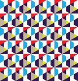 Nahtloser Musterentwurf des geometrischen Gitters lizenzfreie stockbilder