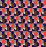 Nahtloser Musterentwurf des geometrischen Gitters lizenzfreie stockfotos