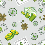 Nahtloser Mustererfolg und -geld Stockfotografie