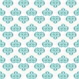 Nahtloser Musterhintergrund blauen Gewebe ikat Pastelldiamanten Lizenzfreie Stockbilder